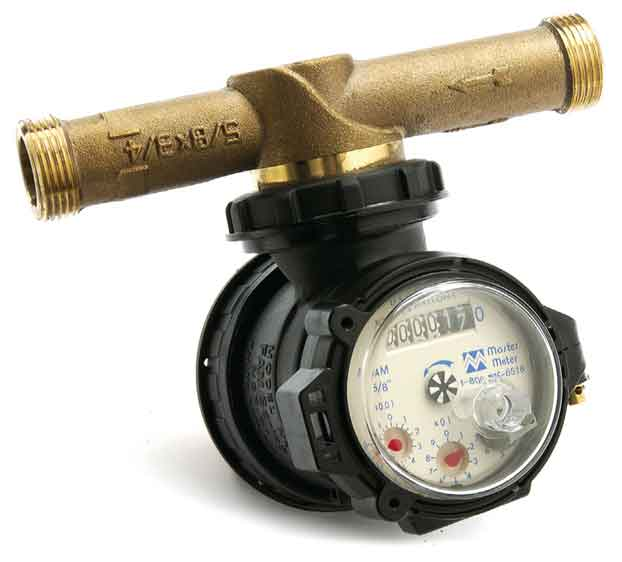 single point water meter